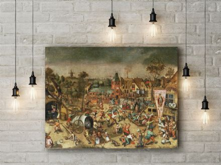 Pieter Bruegel: The Kermesse of the Feast of St. George. Fine Art Canvas.